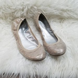 BCBGeneration Gold Metallic Flats